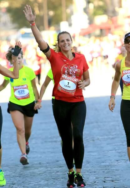 Laure Manaudou a participé à la course avec le sourire