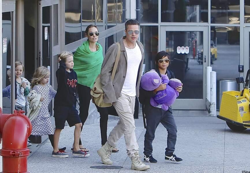 Brad Pitt, Angelina Jolie et leurs six enfants reviennent de l'Australie