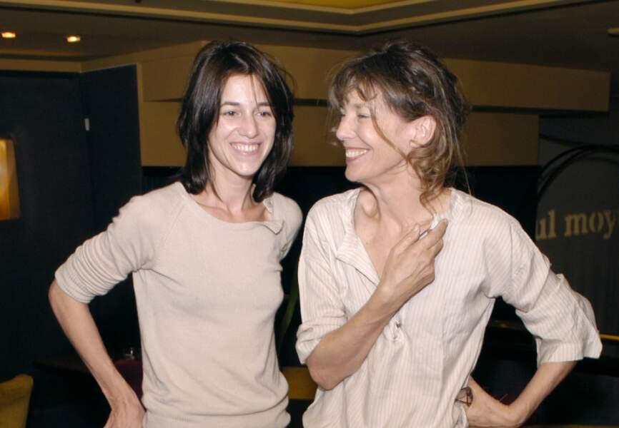 Charlotte Gainsbourg et sa mère, Jane Birkin