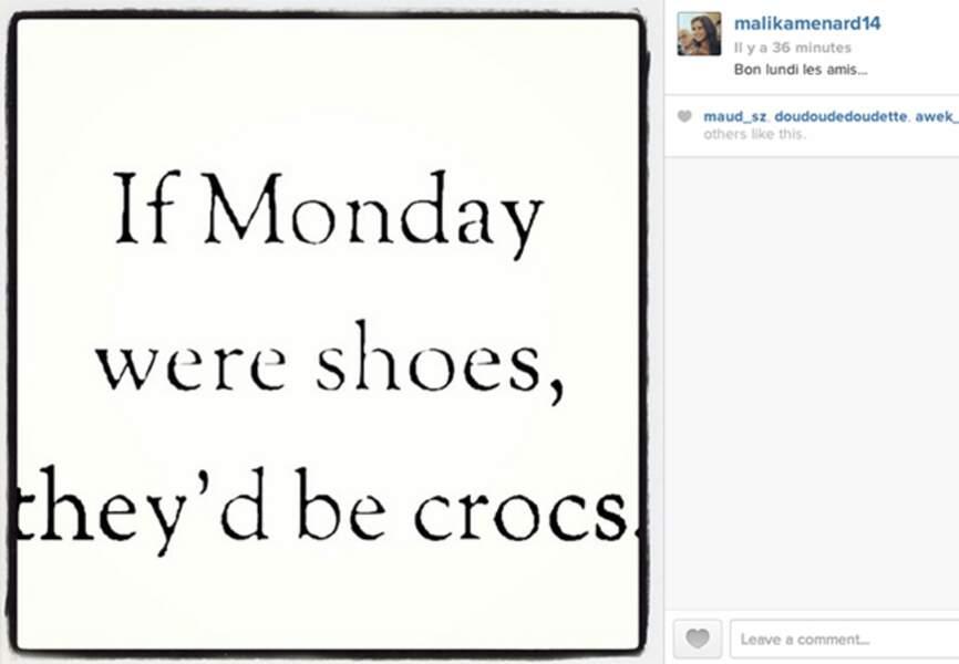 Parce que le lundi, c'est dur: voici un petit mot d'encouragement de @menardmalika