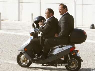 François Hollande et son scooter