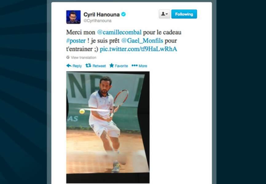 Cyril Hanouna en mode tennisman
