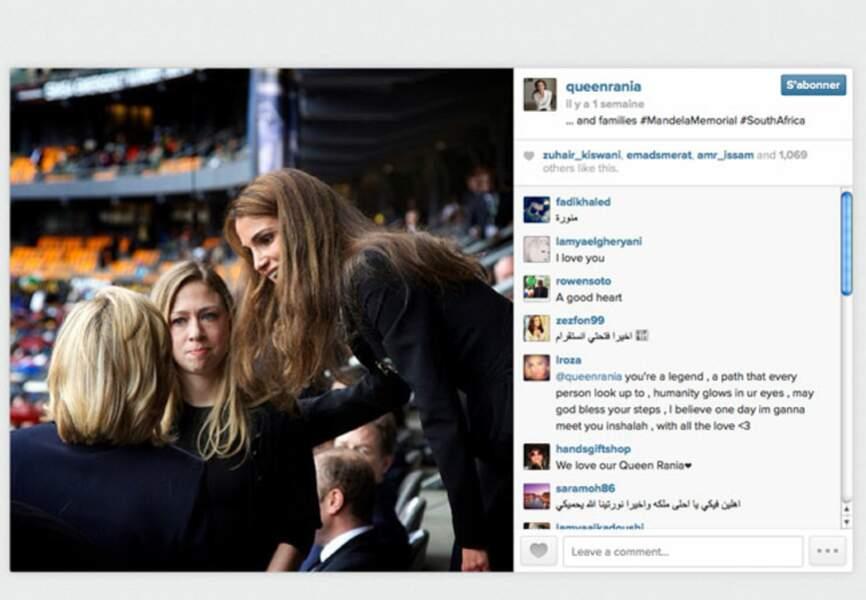 Rania de Jordanie aux obsèques de Nelson Mandela