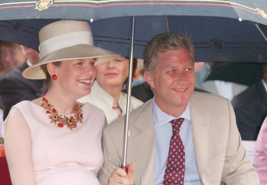 2003, Mathilde est enceinte de Gabriel