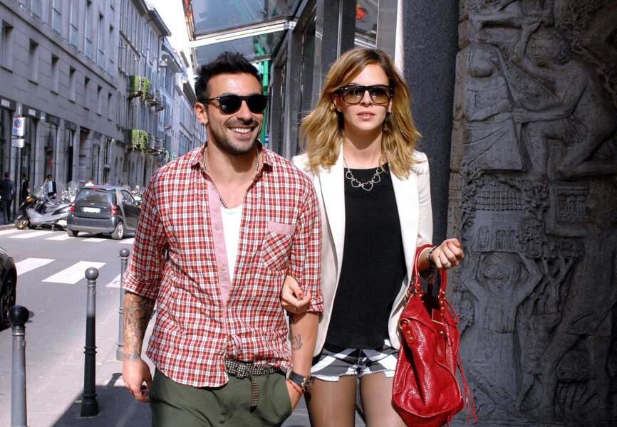 Ezequiel Lavezzi (PSG) et sa femme Yanina Screpante