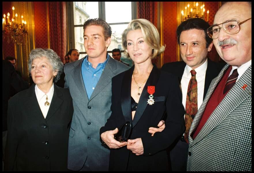 Avec son fils Ludovic en 1998