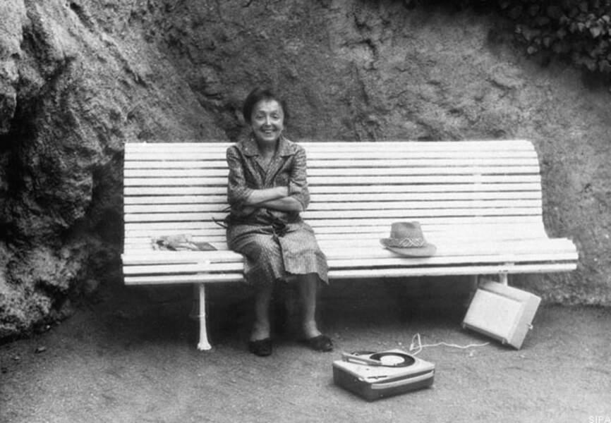 Dernière photo d'Edith Piaf, prise à Grasse