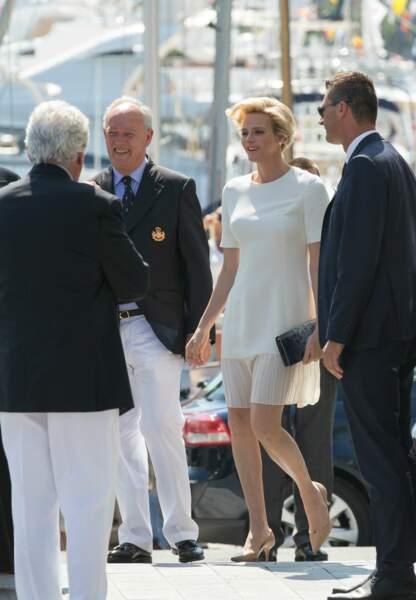 Charlène de Monaco au bras d'Albert II (c) Abaca