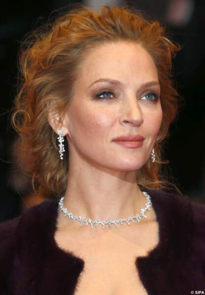 Uma Thurman radieuse sur le tapis rouge de la Berlinale