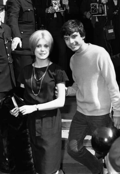 Catherine et son époux le photographe David Bailey en 1965