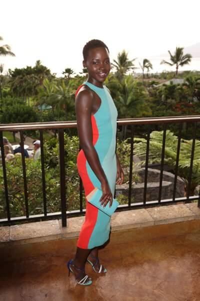 Lupita Nyong'o en robe Calvin Klein au Maui Film Festival