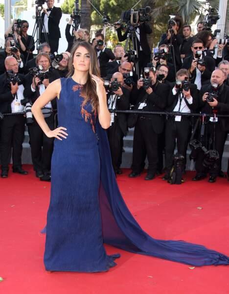 Nikki Reed, en robe Azzaro Haute Couture et coiffée par Franck Provost