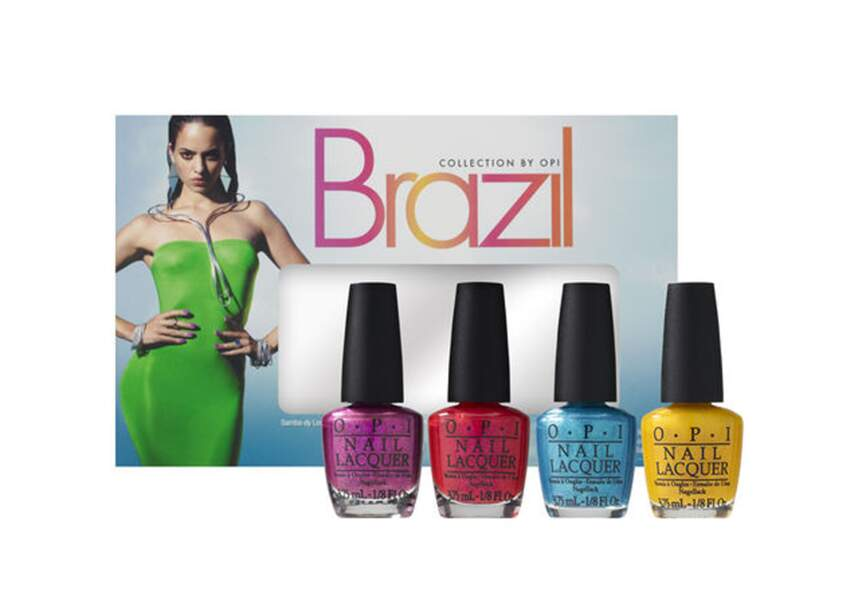 Mini-kit de vernis, Brazil liquid sand, O.P.I., 20€