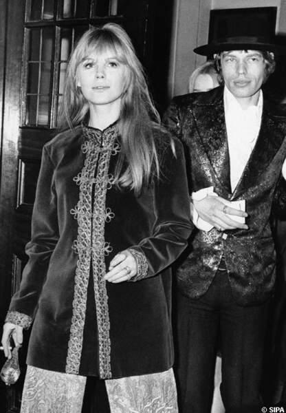 Mick Jagger et son amour de jeunesse, Marianne Faithfull