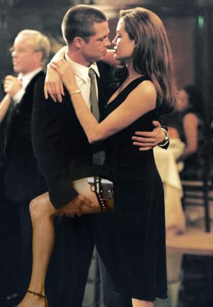 Brad Pitt et Angelina Jolie, le coup de foudre dans Mr et Mrs Smith en 2005