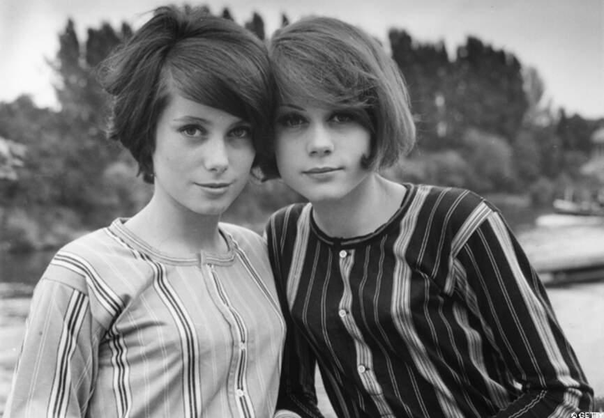Catherine Deneuve et François Dorléac en 1960