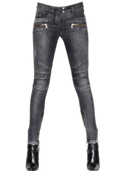 Balmain, Jeans denim en coton stretch, 864€
