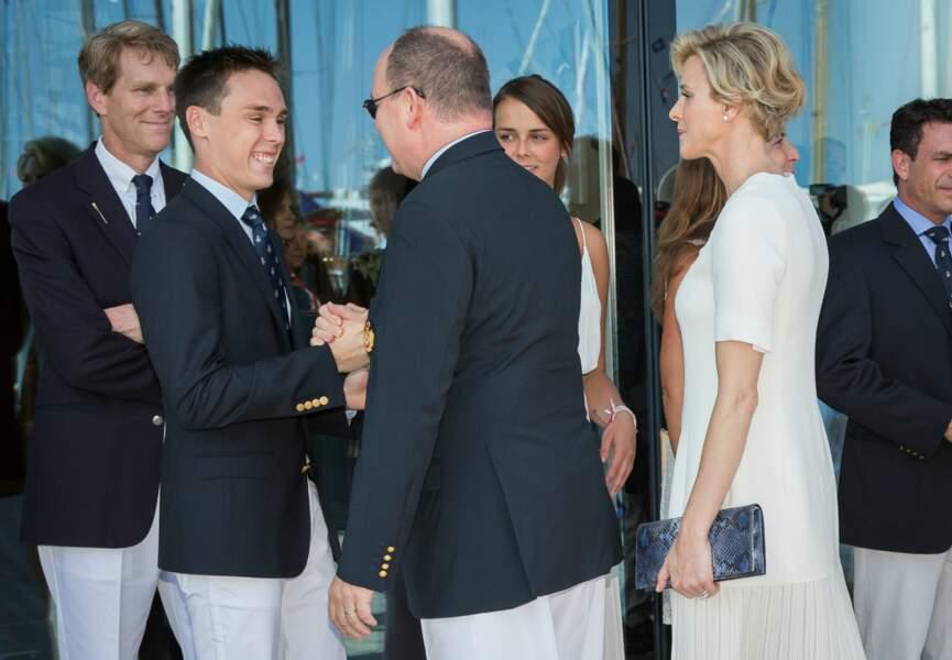 Charlène et Albert de Monaco inaugurent le nouveau Yacht Club du Rocher (c) Abaca