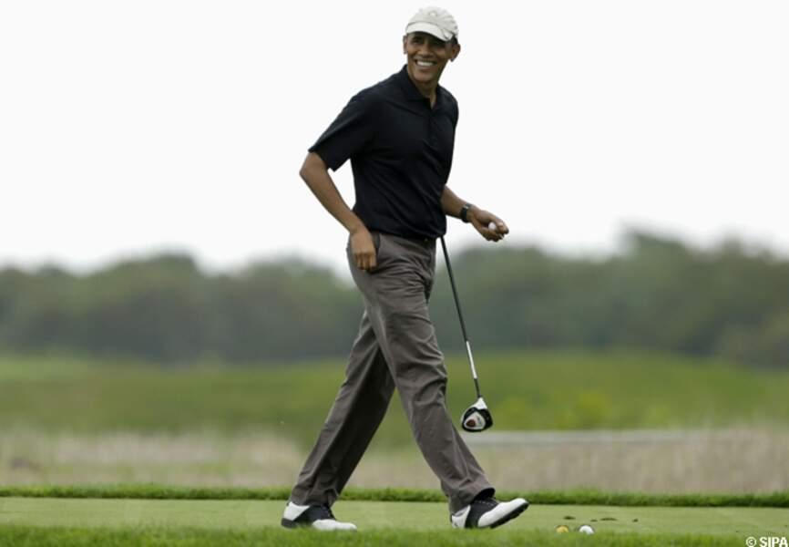Barack Obama est fou de golf