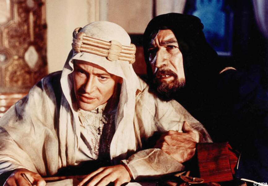 Peter O'Toole et Anthony Quinn dans Lawrence d'Arabie en 1962