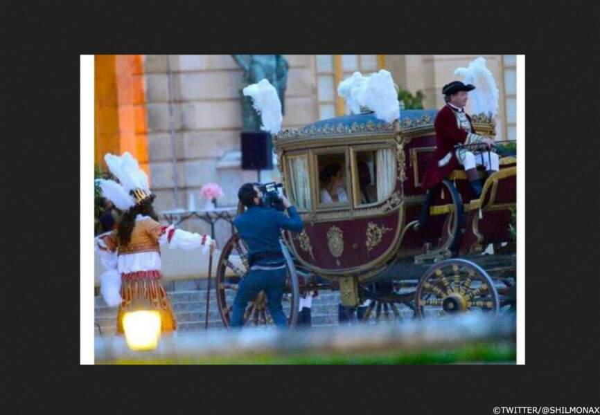 Arrivée de la mariée en calèche au Fort Belvedere de Florence