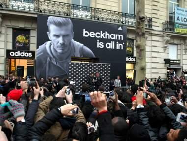 Zinedine Zidane et David Beckham sur les Champs-Elysées