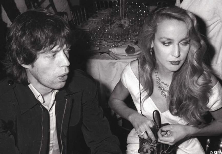 Mick Jagger et Jerry Hall écument les soirées et les lieux branchés