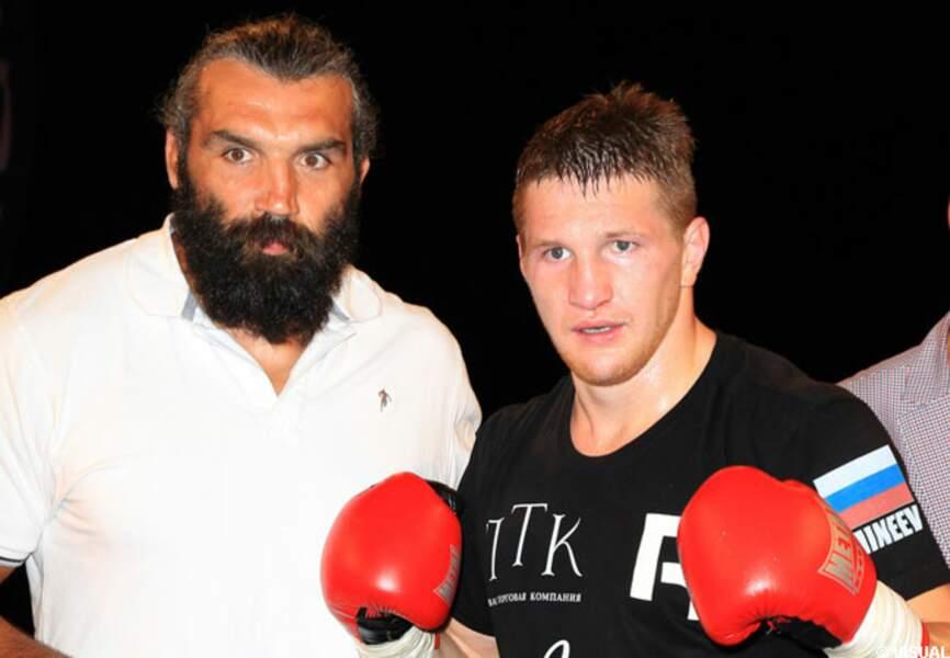Sébastien Chabal et Arnold Oborotov