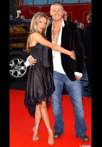 Victoria et David en 2004 à Londres