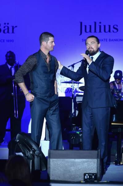 Robin Thicke et Leonardo Di Caprio