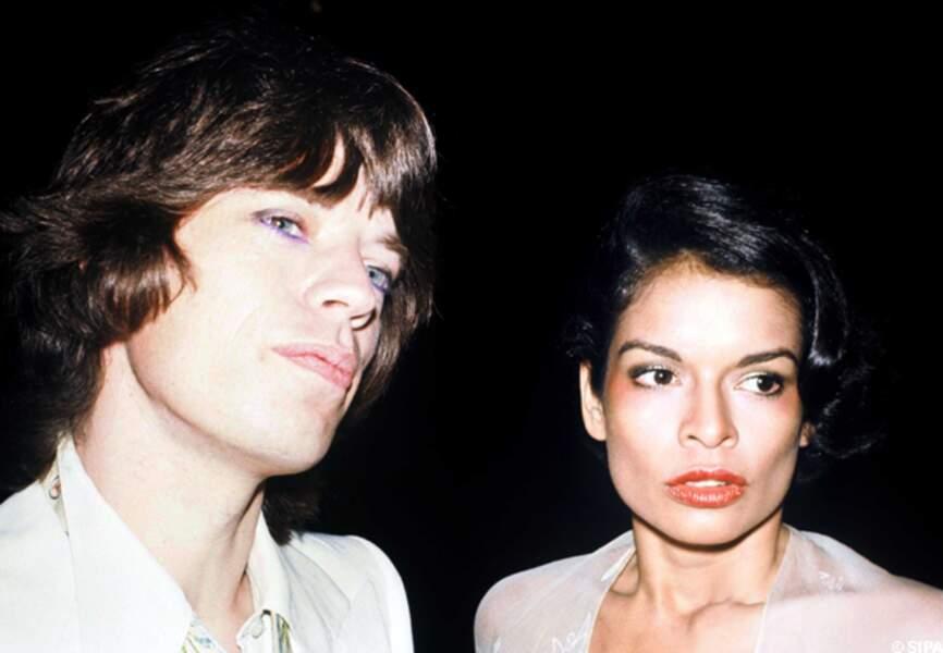 Mick Jagger et Bianca, la maman de Jade