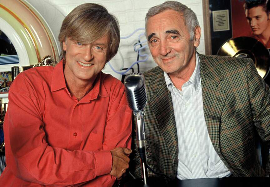 """Charles Aznavour partage le plateau de """"Salut les chouchous"""" sur TF1 avec Dave EN 1997"""