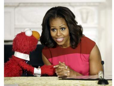 Photos - Michelle Obama: Mangez, bougez, riez!