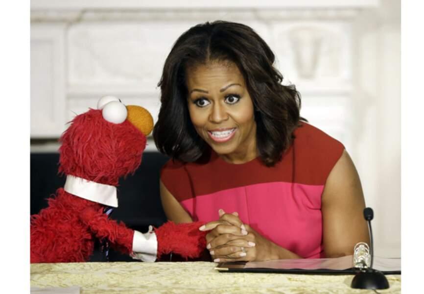 FLOTUS en grande discussion avec Elmo