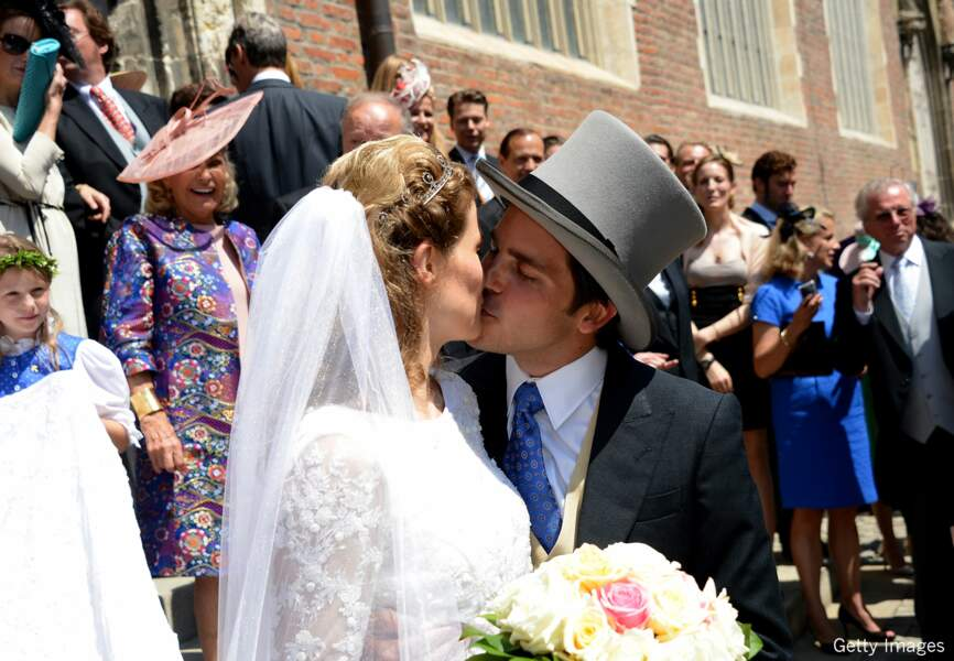 Le couple a affiché son bonheur devant les invités