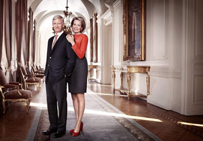 Photo officielle pour le futur couple royal de Belgique