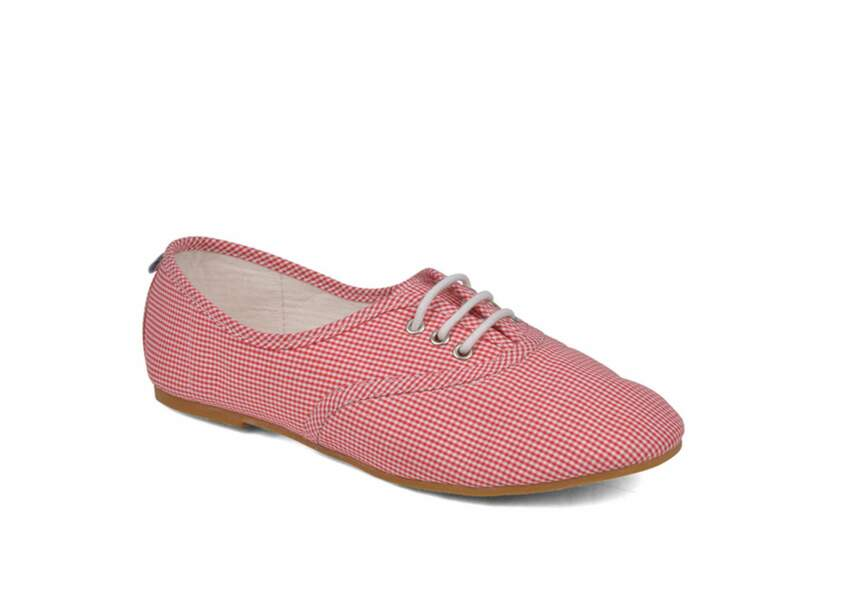 Ruby Brown, chaussures Lace Up vichy, 29,90€