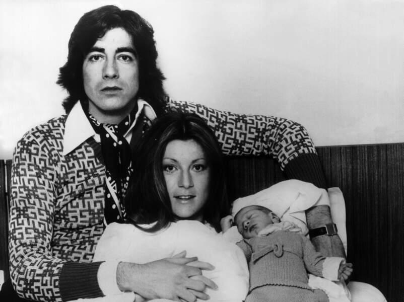SHEILA, RINGO ET LEUR ENFANT LUDOVIC EN 1975