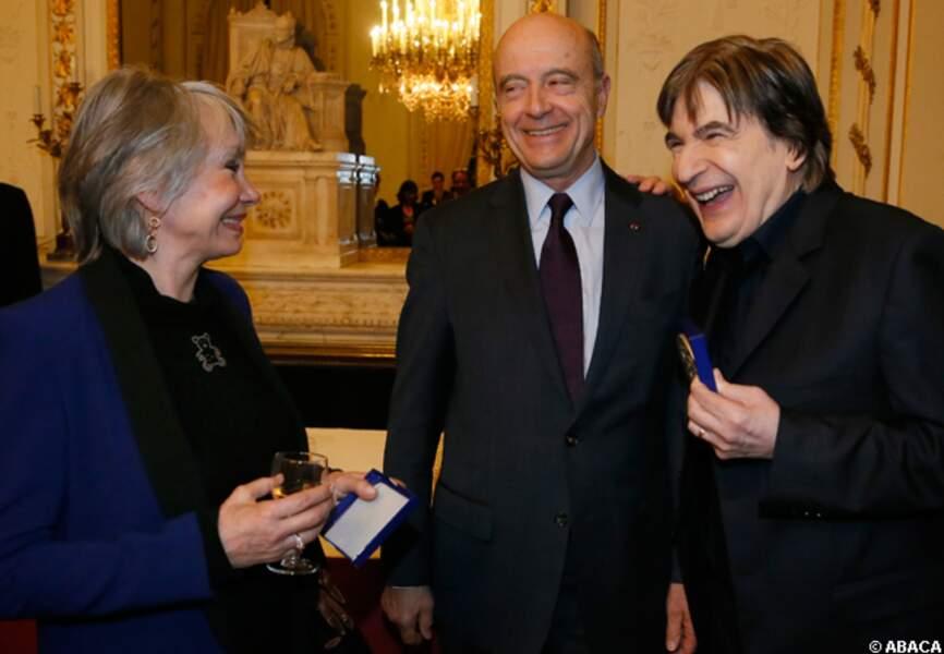 Serge Lama et sa femme reçus par le maire de Bordeaux, Alain Juppé