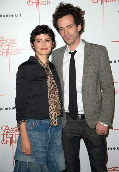 En novembre 2013 avec Audrey Tautou... Depuis, le petit Romain a bien grandi