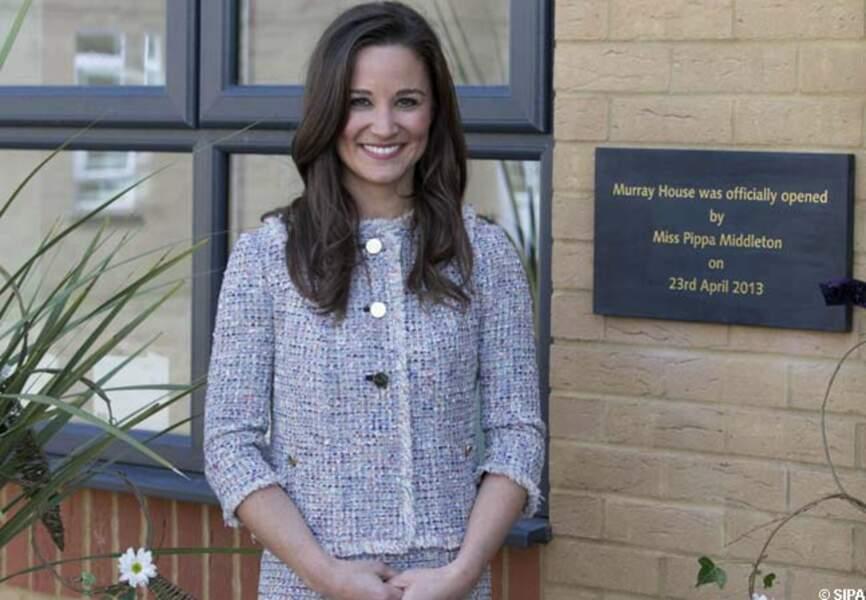 Pippa Middleton et sa plaque en son honneur