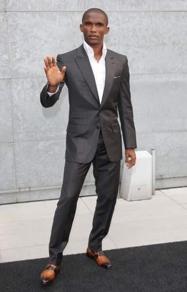 Samuel Eto'o. Le Camerounais a su s'attirer les faveurs de Franca Sozanni, rédactrice-en-chef du Vogue Italie