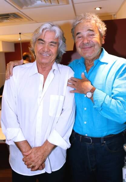Pierre et son ami Daniel Guichard au pavillon Gabriel en septembre 2013