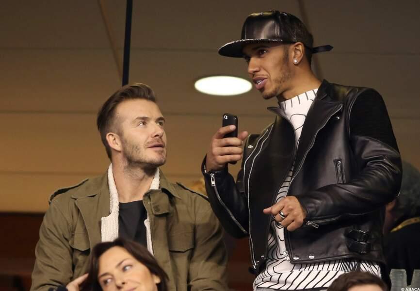 Entre David Beckham et Lewis Hamilton, les commentaires sportifs vont bon train