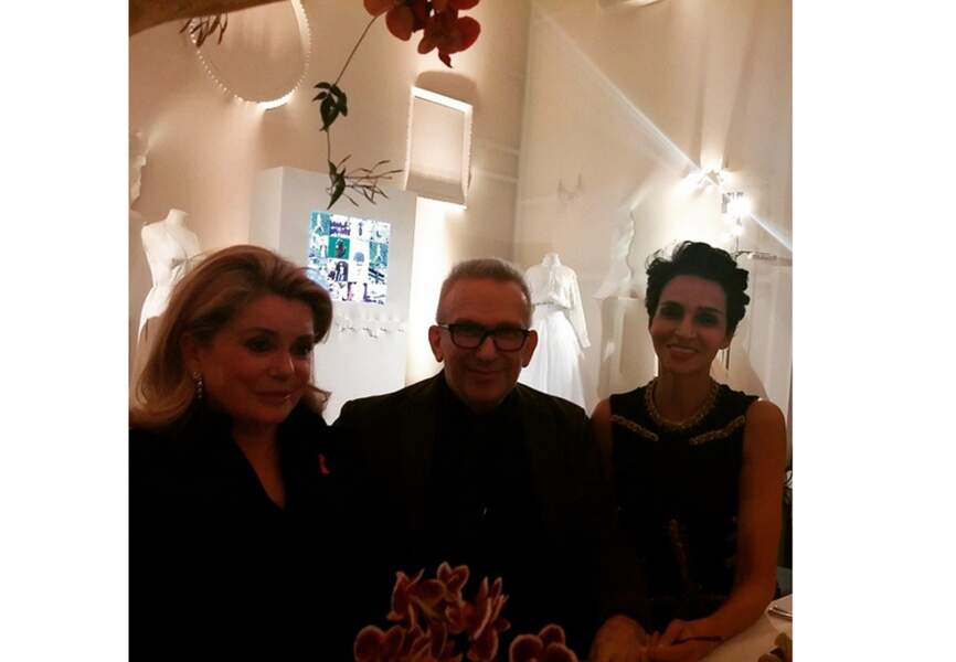 Catherine Deneuve, Jean Paul Gaultier et Farida Khelfa