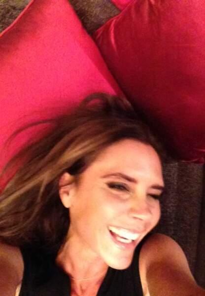 Le 23 juin 2013, Becks poste une photo de sa femme: «Je vous ai bien dit qu'elle souriait»