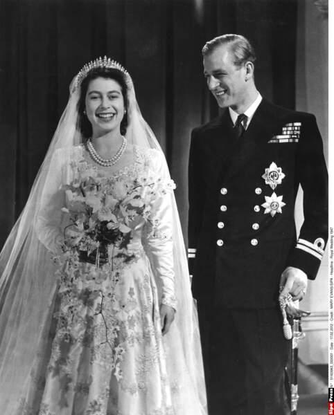 Leur mariage, en 1947