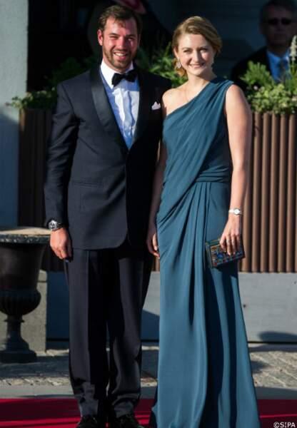 Le prince Guillaume, grand-duc héritier de Luxembourg, et son épouse la princesse Stéphanie