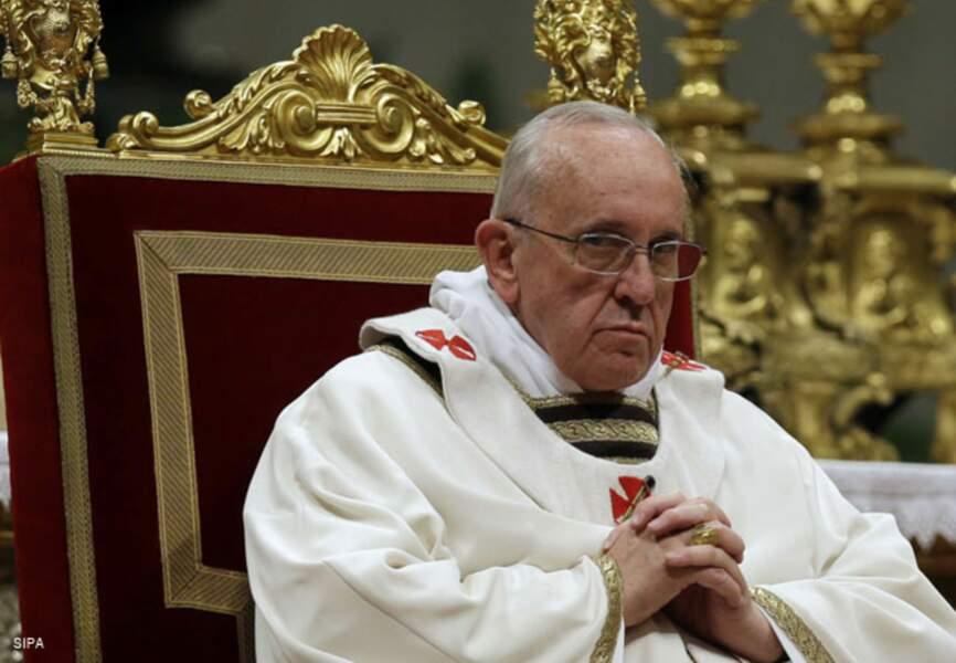 Moment solennel pour le pape