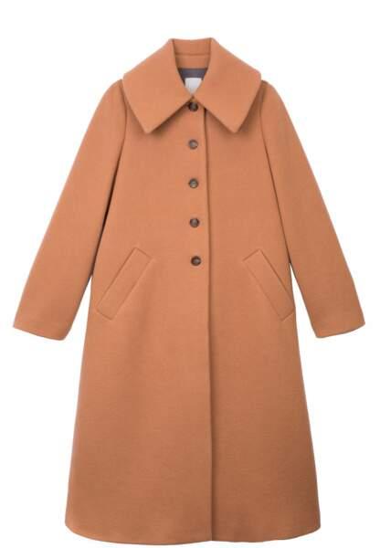 Le manteau en velours de laine